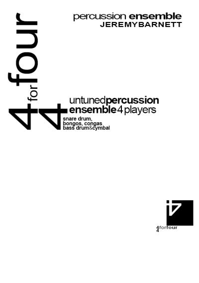 4-4 for Four for Percussion Ensemble - Cover