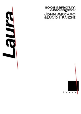 Laura for Solo Snare Drum by Arcaro & Franzke - Cover