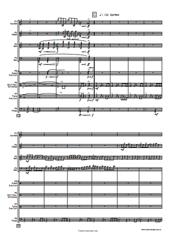 Midnight for Percussion Ensemble - Gordon Hughes - New Percussion Music Score Example