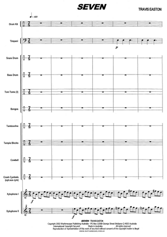SEVEN for Large Percussion Ensemble - Score example page 3