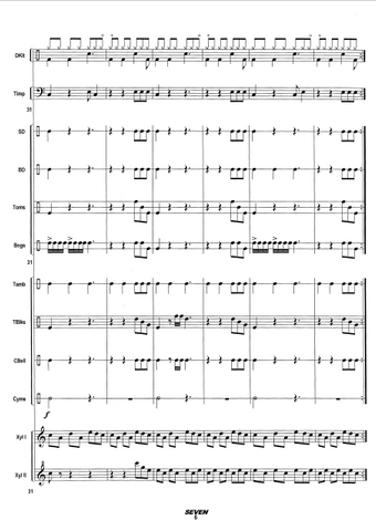 SEVEN for Large Percussion Ensemble - Score example page 6