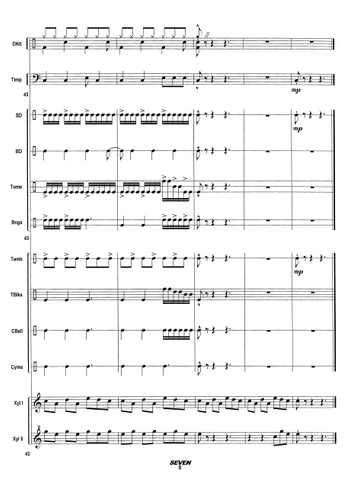 SEVEN for Large Percussion Ensemble - Score example page 8