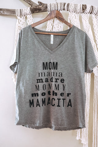 Mom Pyramid Flowy Tee