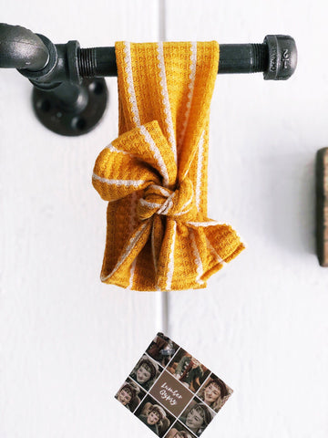 Striped Mustard Gypsy Bow