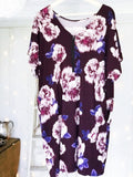 Plum Floral Gypsy House Dress