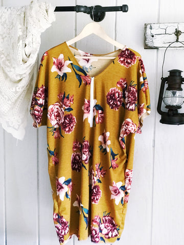 Mustard Gold Gypsy Dress/Tunic