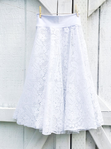 Gypsy Lace Twirly Skirt - Small