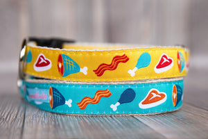 Steak and Bacon Hemp Collar