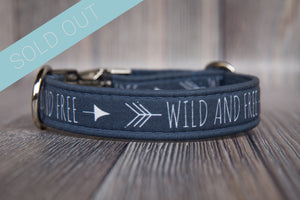 Wild and Free Cotton Dog Collar
