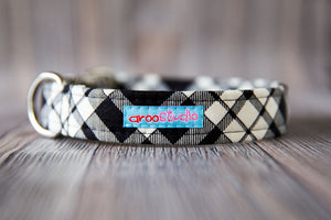 Prancer Plaid Cotton Dog Collar