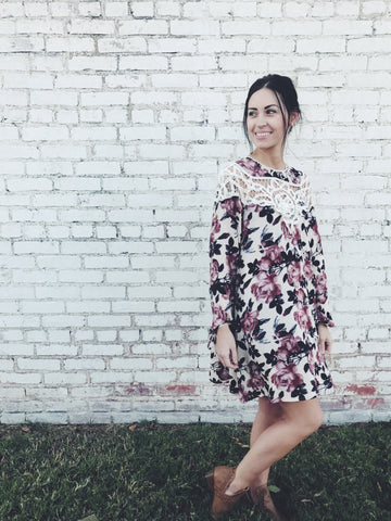 Ember Floral Embroidery Dress