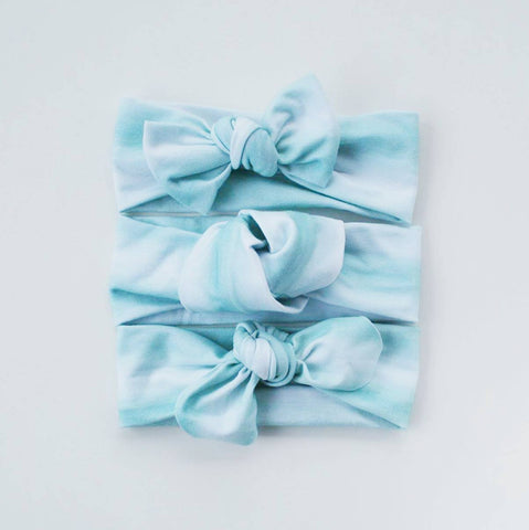 Organic Aqua Watercolour Headband