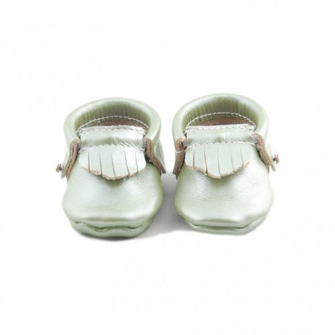 Frosted Leaf Metallic Moccasins