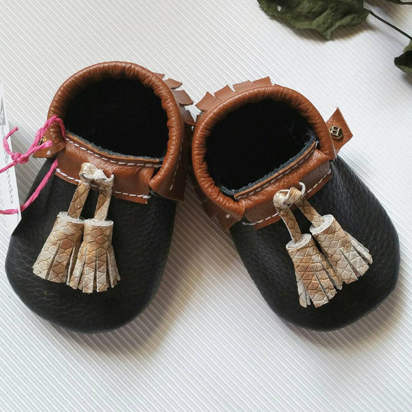 Tassel Moccasin - Ebony Gold