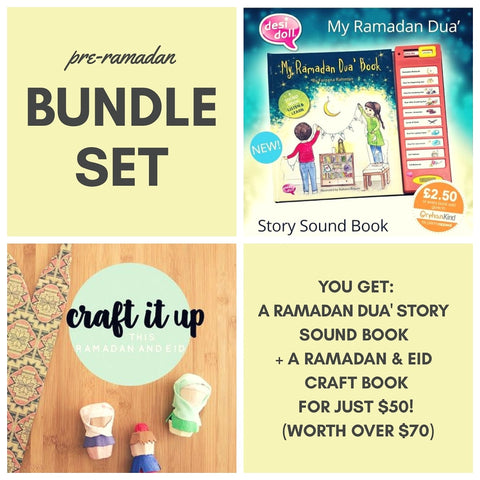 Bundle set: Ramadan Sound Book + Ramadan & Eid Craft Book