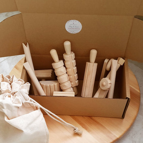 Wooden Tool Kit for Play Dough