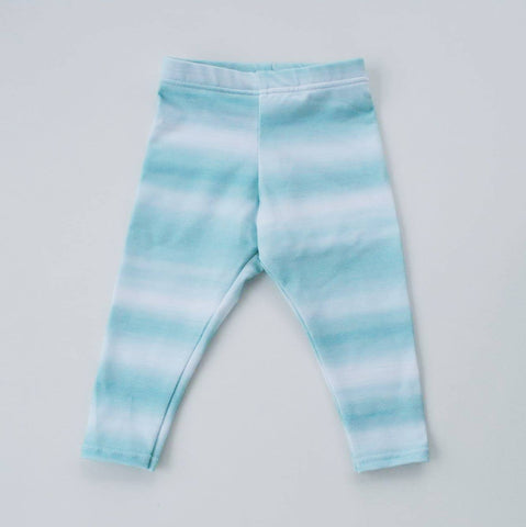 Organic Aqua Watercolour Leggings