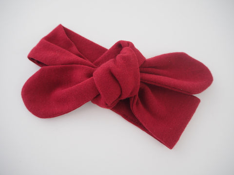 Burgundy Top Knot Headband