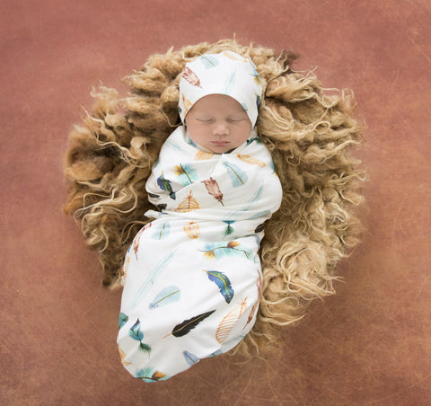 Dreamweaver Snuggle Swaddle with Matching Beanie Set