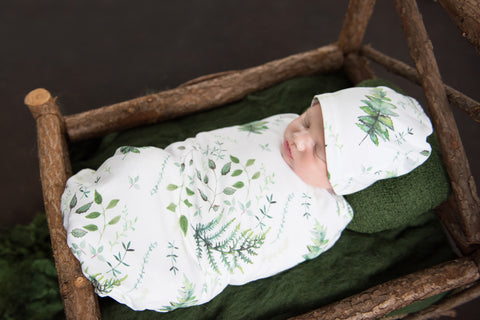Enchanted Snuggle Swaddle with Matching Beanie Set