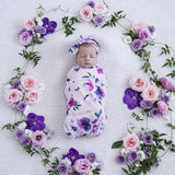 Floral Kiss Snuggle Swaddle  & Headband Set