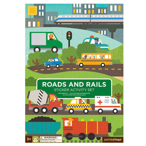 Roads & Rails Sticker Activity Set