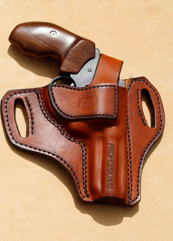 "NEW M&L Custom Thumb Break Holster for our Charter Arms PROFESSIONAL 7 shot .32 H&R 3"" Barrel"