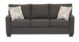 (0907 GREY- 10)- FABRIC- PILLOW BACK- CANADIAN MADE- SOFA- (DELIVERY AFTER 2 MONTHS)
