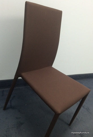 1007- BROWN COLOR- STACKABLE- FABRIC- DINING CHAIRS