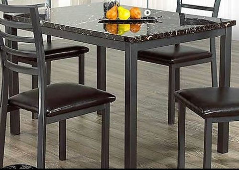 (1026/ 1036 MARBLE LOOK- 1)- METAL- DINING TABLE