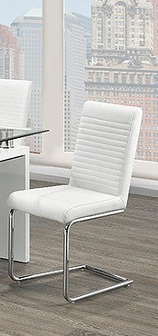 (1040 WHITE)- PU LEATHER- DINING CHAIRS