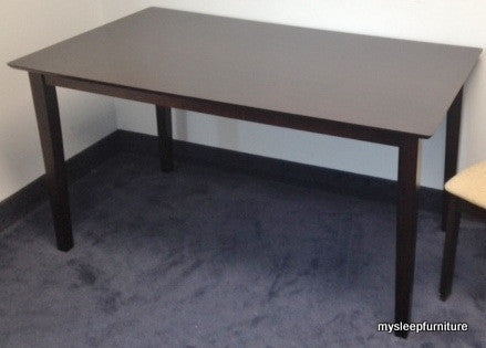3107- LARGE- ESPRESSO COLOR- RECTANGLE- WOOD- DINING TABLE
