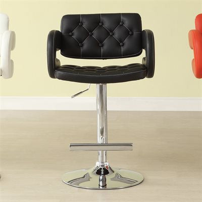 1178- BLACK COLOR- ADJUSTABLE- SWIVEL- BAR STOOL