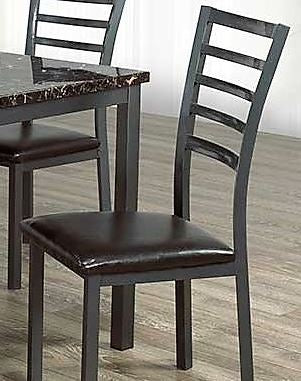1211- METAL- DINING CHAIRS- 2 PACK