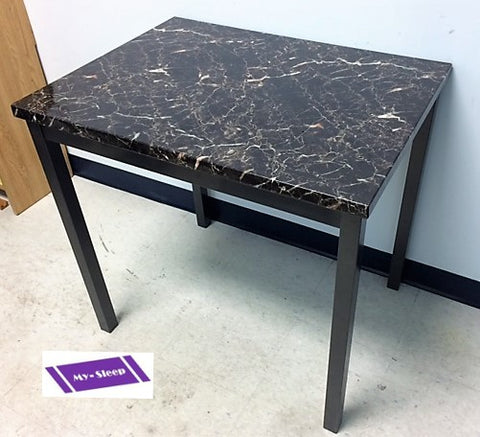 1211- EXTRA SMALL- MARBLE LOOK- DINING TABLE