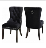 (1221 BLACK- 2 PACK)- FABRIC- DINING CHAIRS