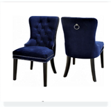 (1222 BLUE- 2 PACK)- FABRIC- DINING CHAIRS