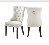 (1223 IVORY- 2 PACK)- FABRIC- DINING CHAIRS