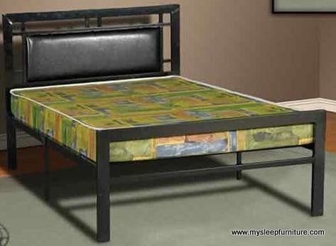 Twin Single Size 2201 Black Metal Bed Frame Mysleep