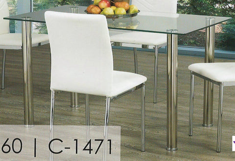 1460- CLEAR GLASS TOP- DINING TABLE