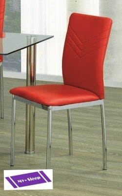 (1472 RED- 4 PACK)- DINING CHAIRS