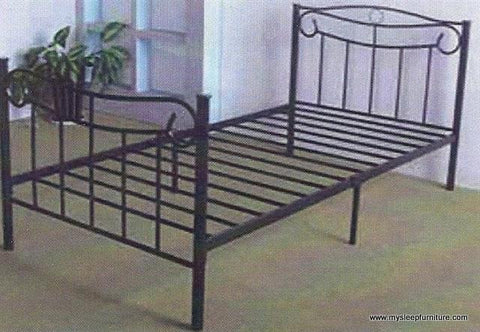 TWIN (SINGLE) SIZE- 151- BLACK COLOR- METAL BED FRAME