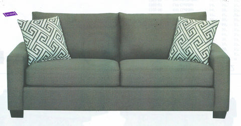 1702- LIGHT GREY COLOR (24- 2632)- CANADIAN MADE- FABRIC SOFA- WITH 2 PILLOWS