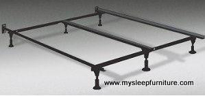 METAL BED FRAME- (008L- WITH LEGS)- WITH MIDDLE SUPPORT- ADJUSTABLE (QUEEN- KING)