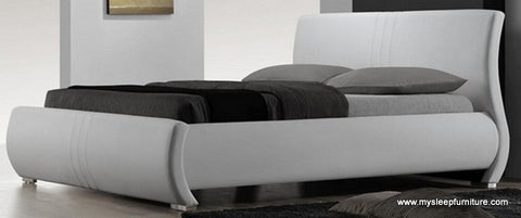 King Size R183 Bonded Leather Bed Frame With Slats Many Colors