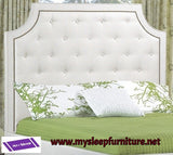 KING SIZE- (R198 OFF WHITE)- FABRIC- CANADIAN MADE- HEADBOARD- (DELIVERY AFTER 2 MONTHS)