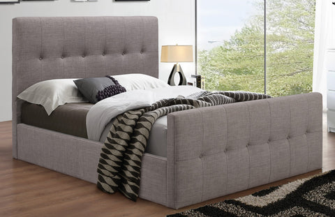 QUEEN SIZE- (198 IF GREY)- BED FRAME- WITH SLATS