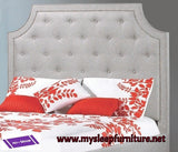 DOUBLE (FULL) SIZE- (R198 LIGHT GREY)- FABRIC- CANADIAN MADE- HEADBOARD- (DELIVERY AFTER 2 MONTHS)
