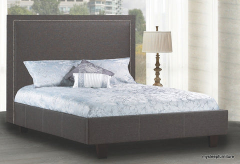 199- FABRIC- BED FRAME- WITH WOOD SLATS- DOUBLE, QUEEN, KING SIZES