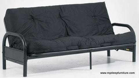 "DOUBLE SIZE- BLACK COLOR- 8"" THICK- DELUXE FUTON MATTRESS"
